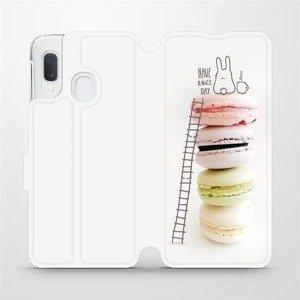 Flipové pouzdro Mobiwear na mobil Samsung Galaxy A20e - M090P Makronky - have a nice day