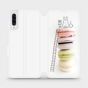 Flipové pouzdro Mobiwear na mobil Samsung Galaxy A30s - M090P Makronky - have a nice day