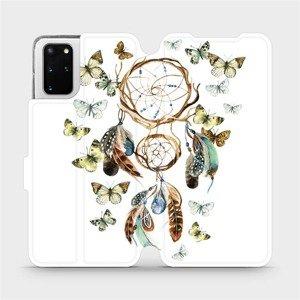 Flipové pouzdro Mobiwear na mobil Samsung Galaxy S20 Plus - M001P Lapač a motýlci