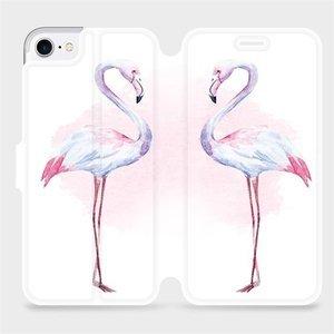 Flipové pouzdro Mobiwear na mobil Apple iPhone SE 2020 - M005S Plameňáci