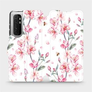 Flipové pouzdro Mobiwear na mobil Xiaomi Mi Note 10 Lite - M124S Růžové květy