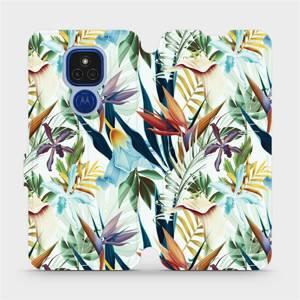 Flipové pouzdro Mobiwear na mobil Motorola Moto E7 Plus - M071P Flóra