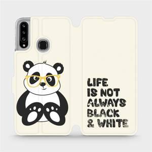 Flipové pouzdro Mobiwear na mobil Samsung Galaxy A20S - M041S Panda - life is not always black and white