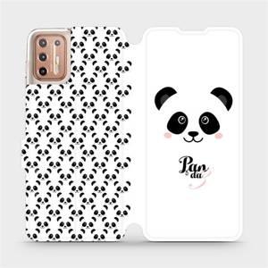 Flipové pouzdro Mobiwear na mobil Motorola Moto G9 Plus - M030P Panda Amálka