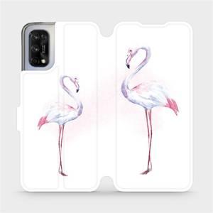 Flipové pouzdro Mobiwear na mobil Realme 7 5G - M005S Plameňáci