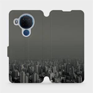 Flipové pouzdro Mobiwear na mobil Nokia 5.4 - V063P Město v šedém hávu