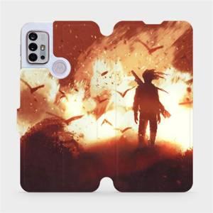 Flipové pouzdro Mobiwear na mobil Motorola Moto G10 - MA06S Postava v ohni