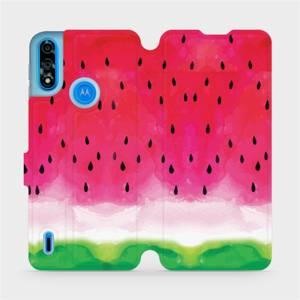 Flipové pouzdro Mobiwear na mobil Motorola Moto E7 Power - V086S Melounek