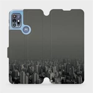 Flipové pouzdro Mobiwear na mobil Motorola Moto G20 - V063P Město v šedém hávu