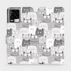 Flip pouzdro Mobiwear na mobil Realme 8 - M099P Kočičky - výprodej