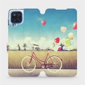 Flipové pouzdro Mobiwear na mobil Samsung Galaxy M12 - M133P Kolo a balónky