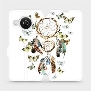 Flip pouzdro Mobiwear na mobil Nokia X20 - M001P Lapač a motýlci
