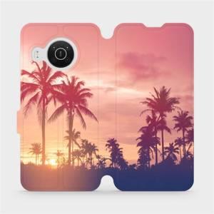Flip pouzdro Mobiwear na mobil Nokia X10 - M134P Palmy a růžová obloha