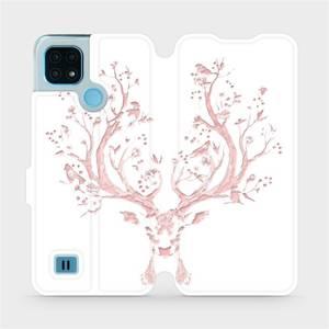Flip pouzdro Mobiwear na mobil Realme C21 - M007S Růžový jelínek
