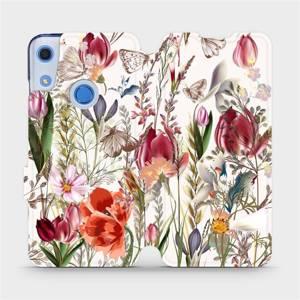 Flip pouzdro Mobiwear na mobil Huawei Y6S - MP01S Rozkvetlá louka