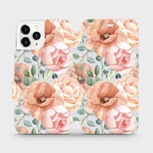 Flip pouzdro Mobiwear na mobil Apple iPhone 11 Pro - MP02S Pastelové květy