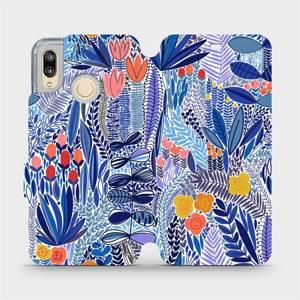 Flip pouzdro Mobiwear na mobil Huawei P20 Lite - MP03P Modrá květena
