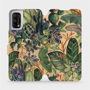 Flip pouzdro Mobiwear na mobil Realme 7 5G - VP05S Sukulenty