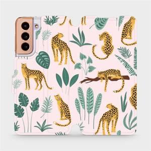 Flip pouzdro Mobiwear na mobil Samsung Galaxy S21 - MP07S Leopardi