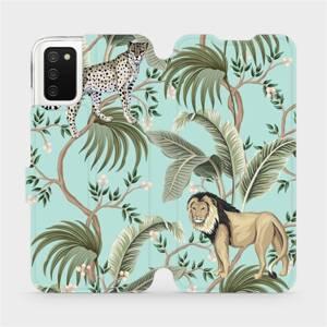 Flip pouzdro Mobiwear na mobil Samsung Galaxy A03s - MP08S Dvě kočičky