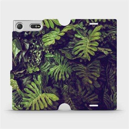 Flipové pouzdro Mobiwear na mobil Sony Xperia XZ1 Compact - V136P Zelená stěna z listů