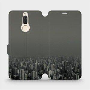 Flipové pouzdro Mobiwear na mobil Huawei Mate 10 Lite - V063P Město v šedém hávu