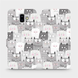 Flipové pouzdro Mobiwear na mobil Samsung Galaxy J6 Plus 2018 - M099P Kočičky
