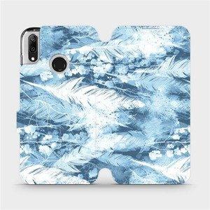 Flipové pouzdro Mobiwear na mobil Huawei Y7 2019 - M058S Světle modrá horizontální pírka
