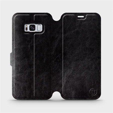 Parádní flip pouzdro Mobiwear na mobil Samsung Galaxy S8 v provedení C_BLS Black&Gray s šedým vnitřkem