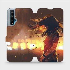 Flipové pouzdro Mobiwear na mobil Huawei Nova 5T - MA02S Tetovaná dívka