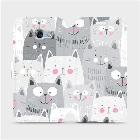 Flipové pouzdro Mobiwear na mobil Samsung Galaxy A3 2017 - M099P Kočičky