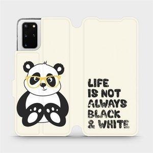 Flipové pouzdro Mobiwear na mobil Samsung Galaxy S20 Plus - M041S Panda - life is not always black and white