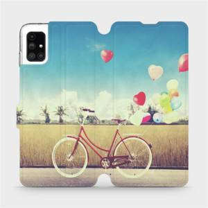Flipové pouzdro Mobiwear na mobil Samsung Galaxy M51 - M133P Kolo a balónky