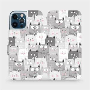 Flipové pouzdro Mobiwear na mobil Apple iPhone 12 Pro Max - M099P Kočičky