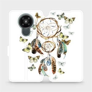 Flipové pouzdro Mobiwear na mobil Nokia 3.4 - M001P Lapač a motýlci