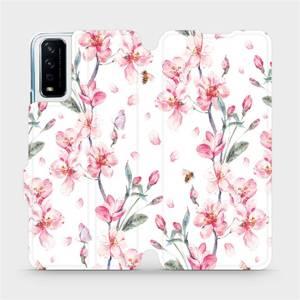 Flipové pouzdro Mobiwear na mobil Vivo Y11S - M124S Růžové květy