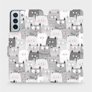 Flipové pouzdro Mobiwear na mobil Samsung Galaxy S21 Plus 5G - M099P Kočičky