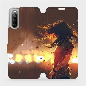 Flip pouzdro Mobiwear na mobil Sony Xperia 10 III - MA02S Tetovaná dívka