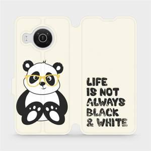 Flip pouzdro Mobiwear na mobil Nokia X20 - M041S Panda - life is not always black and white