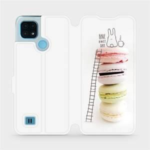 Flip pouzdro Mobiwear na mobil Realme C21 - M090P Makronky - have a nice day