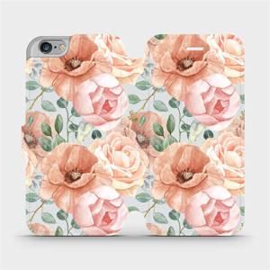 Flip pouzdro Mobiwear na mobil Apple iPhone 6s / iPhone 6 - MP02S Pastelové květy