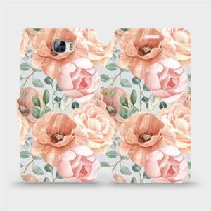Flip pouzdro Mobiwear na mobil Huawei Y6 II Compact - MP02S Pastelové květy