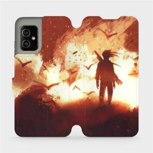 Flip pouzdro Mobiwear na mobil Asus Zenfone 8 - MA06S Postava v ohni