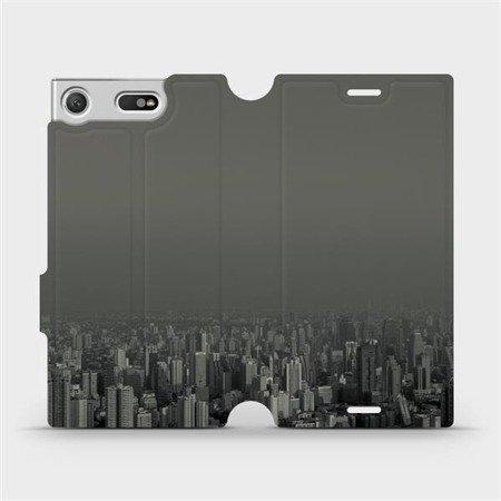 Flipové pouzdro Mobiwear na mobil Sony Xperia XZ1 Compact - V063P Město v šedém hávu