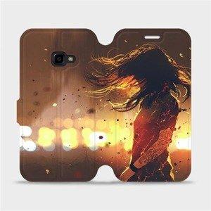 Flipové pouzdro Mobiwear na mobil Samsung Xcover 4 - MA02S Tetovaná dívka