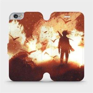 Flipové pouzdro Mobiwear na mobil Apple iPhone 6 / iPhone 6s - MA06S Postava v ohni