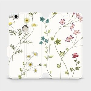 Flipové pouzdro Mobiwear na mobil Huawei P9 Lite 2017 - MD03S Tenké rostlinky s květy