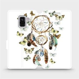 Flipové pouzdro Mobiwear na mobil Samsung Galaxy A8 2018 - M001P Lapač a motýlci