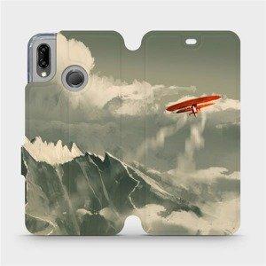 Flipové pouzdro Mobiwear na mobil Huawei P20 Lite - MA03P Oranžové letadlo v horách
