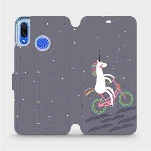 Flipové pouzdro Mobiwear na mobil Huawei Nova 3 - V024P Jednorožec na kole